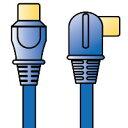【3500円以上お買い上げで送料無料】DXアンテナ 1m シールドプラグ付アンテナケーブル(青) 4JW1B1AB