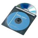 【3500円以上お買い上げで送料無料】サンワサプライ CD・DVD用不織布ケース120枚セット・ブラック FCD-FN120BK