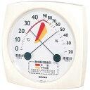 EMPEX エンペックス 食中毒注意 温湿度計 ホワイト TM-2511