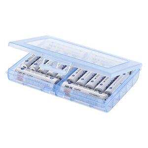 サンワサプライ 電池ケース 単三形、単四形対応 ブルー DG-BT5BL