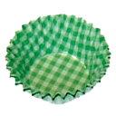 オーブンケース チェック柄 250枚入 5号深口 緑 XOC0212