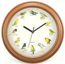 カクセー 小さな野鳥の大きな壁掛け時計