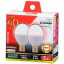 オーム電機 LED電球 ミニクリプトン形 40W相当 電球色 E17 広配光タイプ 密閉器具 断熱材施工器具対応 LDA4L-G-E17IH9-2P