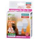 オーム電機 LED電球 ミニクリプトン形 40形相当 E17 電球色 広配光 密閉器具/断熱材施工器具対応 2個入 LDA4L-G-E17 IH21 2P