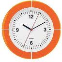 【送料無料】グッチーニ guzzini ウォールクロック オレンジ 2895.0045 RGTE404