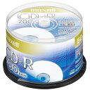 マクセル maxell データ用 CD-R 48倍速対応 インクジェットプリンター対応(ノンワイド) 700MB 50枚 CDR700S.PNW.50SP
