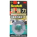 スコッチ超強力両面テープ プレミアゴールド 自動車内装用 KCR-15 6335000