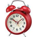 目覚まし時計 ノア Felio フェリオ タルト FEA170 レッドレトロデザイン おしゃれ ベルで目覚める