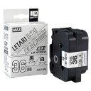 マックス ビーポップmini専用テープ LM−H536BW 白 LX90681