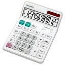 シャープ SHARP 電卓 セミデスクサイズ 12桁 EL-S452-X