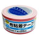 TERAOKA カラー布粘着テープ 赤 厚さ0.2mmX幅50mmX長さ25m NO.1535S