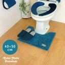 オカトー カラーモードプレミアム ミニトイレマット 40×50 ターコイズブルー