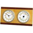 EMPEX エンペックス ウッドクレスト温・湿度計・時計 TM-614