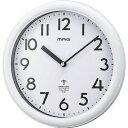 ノア精密 MAG 電波掛時計 カプタイン ホワイト W-650 WH-Z