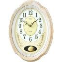【送料無料】ウォールクロック 電波式 ノア MAG マグ ジュエルメロディ W-719 石目アイボリー 掛時計 ステップ秒針 振り子 メロディ時報 おしゃれ