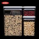 OXO オクソー POP2 ポップコンテナ2 レクタングル 3ピースセット スクープ付 11241400