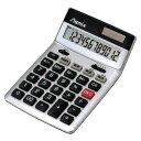 アスカ Asmix 消費税電卓 チルト 12桁 シルバー C1236S