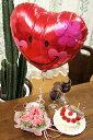 【送料無料】バルーンハート(ピンクバラアレンジ&誕生日バルーン)【楽ギフ_メッセ】【楽ギフ_メッセ入力】【楽ギフ_包装】【画像配信】