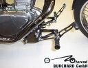 MOTORRAD BURCHARD モトラッド バーチャード Forward Controls Kit 17cm forward TUV Footpeg and Lever Design:Sundance Look smooth Levers / Surface:Black Dull LS 650 Savage SUZUKI スズキ