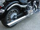 KENTEC ケンテック フルエキゾーストマフラー ロングスラッシュカット スリップオンマフラー 101Φ XV1900 A ミッドナイトスター