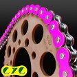 CYCチェーン 520-120L カラーシールチェーン【ソリッドカラー】(蛍光ピンク)