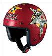 OGK KABUTO オージーケーカブト ジェットヘルメット BOB-K [ボブ・ケー] ウッドペッカー コミックレッド ヘルメット