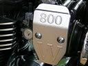 【在庫あり】AGRAS アグラス エンジンカバー インジェクションカバー 小 カラー:ブラック W800