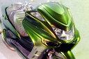 WARRIORZ ウォーリアーズ スクーター外装 マジェスティ用 チョップフェイス・V4(バージョンフォー) カラー:ブラックメタリックX MAJESTY250[マジェスティ](SG03J) (5GM/5SJ)