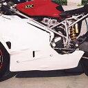 【セール特価!】【KDCサービス】【アンダーカウル】【レースアンダーカウル】【サイドスタンド不可 カラー:白ゲル】【749R -04】【999 R -04】