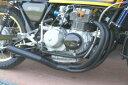 AGAIN アゲイン フルエキゾーストマフラー 手曲げマフラー 64パイ クロ CB400FOUR(空冷)