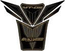 【イベント開催中!】 MOTOGRAFIX モトグラフィックス タンクパッド カラー:ブラック/ゴールド MT-09 トレーサー