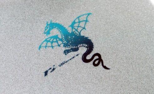 【在庫あり】r's gear アールズギア ステッカー・デカール ワイバンステッカー カラー:ブルーグラデーション (ターコイズ×ネイビー)