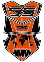 MOTOGRAFIXモトグラフィックスタンクパッドタンクパッドカラー:オレンジ/ブラックF700GS