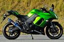 MotoGear モトギア フルエキゾーストマフラー 手曲げ ツインフルエキゾースト アップタイプ サイレンサータイプ:チタンスラッシュエンド Ninja1000