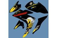 PLOTプロトステッカー・デカールデカールキットユニコーンBカラー:ブラック/イエローYZF-R25YZF-R3