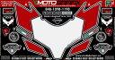 MOTOGRAFIX モトグラフィックス ステッカー・デカール ボディーパッド 1198 848 DUCATI 1098