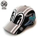 56design 56デザイン 帽子 MEDAMA Cap [目玉 キャップ] カラー:グレー/ブラック