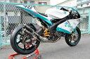 【イベント開催中!】 T2 Racing T2レーシング MC21用 右2本出し ステンレスチャンバーボディ ステッカータイプ:長方形型 NSR250R MC21
