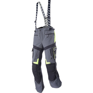 Rukka ルッカ ナイロンパンツ ROUGHROAD TEXPANTS, GREY/NEON YELLOW SIZE:L-58