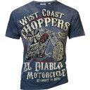 WCC ダブルシーシー Tシャツ T-SHIRT VINTAGE BLUE EL DIABLO Size:L
