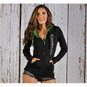 US KAWASAKI 北米カワサキ純正アクセサリー カジュアルウェア レディース ベーシックラインスタッドフーディースウェットシャツ【Women'S Basic Rhinestud Hooded Sweatshirt】 サイズ:XL