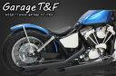ガレージT&F フルエキゾーストマフラー ドラッグパイプマフラー タイプ1 仕上げ:耐熱ブラック仕上げ、ショートインナー付属 シャドウスラッシャー400