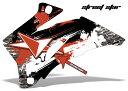 エーエムアール ステッカー・デカール AMR グラフィックデカール(シュラウド) グラフィックカラー:レッド D-TRACKER250 [Dトラッカー250]X 08-10