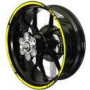 ホイール リムステッカー4(Wheel Stripes design 4) カラー(Color):蛍光イエロー(fluorescent Yellow) フロントホイールサイズ(front):17inch リアホイールサイズ(Rear):17inch