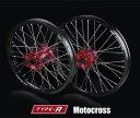 TGR TECHNIX GEAR TGRテクニクスギア ホイール本体 TYPE-R Motocross(モトクロス)用ホイール ニップルカラー:レッド ハブカラー:レッド(HONDA COLOR) CRF450R