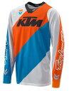 摩托车骑士服 - KTM POWER WEAR KTMパワーウェア オフロードジャージ SE SLASH JERSEY WHITE サイズ:L