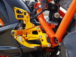 【セール特価!】 BABYFACE ベビーフェイス バックステップキット (アップタイプ) ゴールド KTM RC8 1190 08-12 KTM RC8 R 1190 08-12