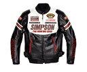 SIMPSON シンプソン ライディングジャケット SJ-6133 Fake Leather Jacket [フェイクレザージャケット] サイズ:4L