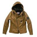 ACECAFE LONDON エースカフェロンドン レザージャケット PUレザーフーデッドジャケット カラー:ダークグレー サイズ:WM