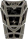 MOTOGRAFIX モトグラフィックス タンクパッド カラー:ブラック/ゴールド R1200GS Adventure 06-13